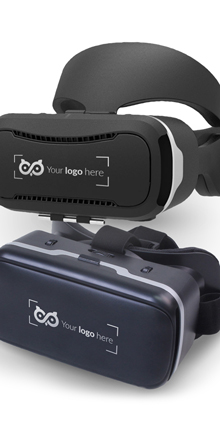 plastic vr glasses with logo